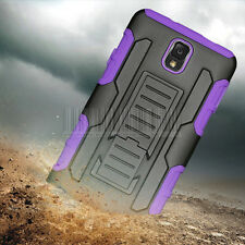 Rugged Hybrid Armor Case Hard Cover Holster For Samsung Galaxy Note III 3 N9000