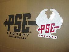 NEW 2014 PSE Archery Bow Sticker Deer Antler Skull Truck Window Decal Red/White