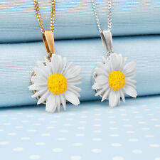 DAISY PENDANT NECKLACE   hand-painted made in Wales UK