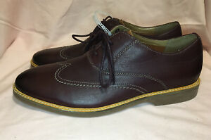Clarks Atticus Vibe Burgundy Leather Men Shoes Size 11 New