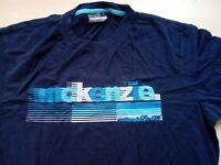 Mens McKenzie Blue Short Sleeve T Shirt Size L Large
