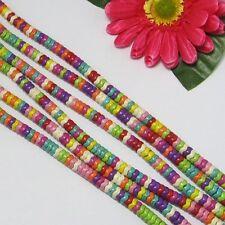 3 Strang Multicolor Türkis 8mm Kreis Welle Lose Perlen