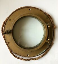 "Vintage Brass Round Porthole Nautical Maritime 12"" Antique"