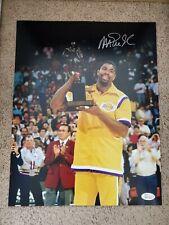 Magic Johnson Signed 11x14 Los Angeles Lakers JSA COA