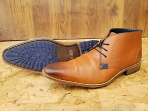 JONES BOOTMAKER SIZE UK 12 EU 46 MENS BROWN TAN REAL LEATHER CHELSEA ANKLE BOOTS