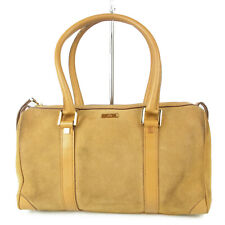 Auth GUCCI Logos Leather Mini Boston Hand Bag Italy F/S 13161bkac