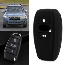 3Buttons Silicone Car Key Fob Case Cover Protector For Subaru Forester Fork XV