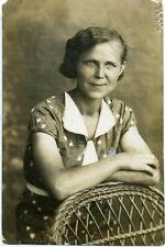 1937 Woman Summer Dress Fashion Studio Russian  antique photo