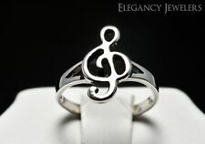 Adjustable .925 Sterling Silver Music Note Treble Clef Toe Ring