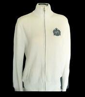 Ralph Lauren Active Women's White Knit Navy Logo Full Zipper Sweater Jacket XL