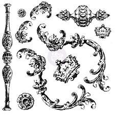 Prima Iron Orchid Desgins Clear Acrylic Decor Stamps Louis 814335