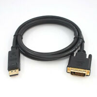 New 6FT 1.8M Displayport DP Male To DVI-D Male Adapter Cable Core Cord