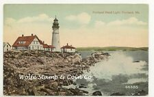 1917 View Portland Head Light Portland ME R.P.O. cancel A5985