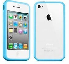 NEW Light Blue Turquoise Bumper Case Cover RIM for Apple iPhone 4 4G 4S UK