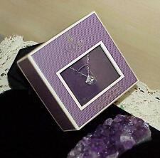 Asprey 18k White Gold Solitaire Diamond Airline Necklace Retail $4550 New w/Box