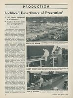 1952 Aviation Article Lockheed Aircraft Test Labs for Parts Preventive Maint.