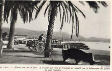 CORSE AJACCIO VUE SUR LE PORT CHARETTE IMAGE 1953 PRINT