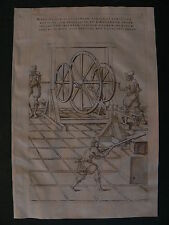 Besson Theatrum originale 1578 Cercau macchina machine invenzione meccanica M