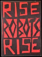 Authentic Backstage Pass Rise Robots Rise Concert Tour Ticket Tvt Records Rare