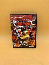 Tekken 5 Sony PlayStation 2/PS2 Game COMPLETE w/ Manual (Original Black Label)