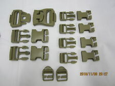 Molle Ii Buckle Repair Kit Desert 8465-01-465-2080 7 Buckles 2 Strap Adjusters