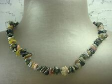"Fashion 36"" Genuine Gemstone Chip Continuous Necklace"