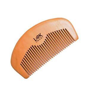 Look Smart - Mens Wooden Pocket Beard Moustache Grooming Handmade Pearwood Comb