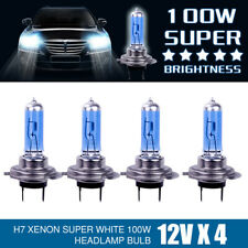 4Pcs 12V H7 LED 100W Xenon White 6000k Halogen Car Head Light Lamp Globes Bulbs