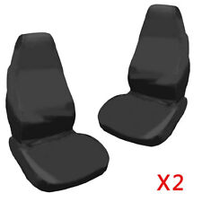 2x UNIVERSAL WATERPROOF BLACK FRONT SEAT COVERS/PROTECTORS FOR CAR/VAN SEATS NEW