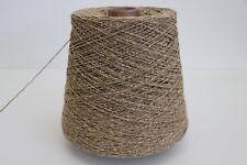 R43 500g SCHURWOLLE / SEIDE BRAUNBEIGE (3,3) Wolle Zwirn Strick