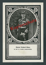 orig Fototafel Admiral Scheer Uniform Säbel Kaiserliche Marine Patriotismus 1917