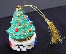 2003 LENOX Bone China Treasures Collection CHRISTMAS TREE Trinket Box Ornament
