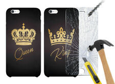 Valentine Couple Printed Hard Case Cover + Glass for Various Phone Models