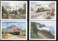 Liberia  SC # 1165-1170 Locomotives. Souvenir Sheets. MNH