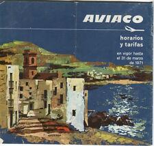 AVIACO TIMETABLE WINTER 1970/71 HORARIOS SPAIN GREAT CONVAIR METROPOLITAN PIC