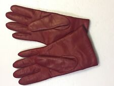 Coach Women's Red Gloves 100% Leather shell Cashmere lining Size 7