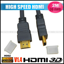 2M HDMI Cable V1.4 30AWG High Speed A male to A male 1080P Ethernet - H002