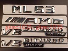 """Gloss Black /""""G63 AMG V8 BITURBO 4MATIC/""""Number Emblem Sticker for Mercedes-Benz"""