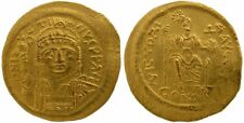JUSTIN II 565-578 GOLD SOLIDUS Costantinopoli annuncio 567-578 4,52 G / 20MM / i / r-36