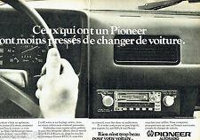 PUBLICITE ADVERTISING 1016  1980   Pioneer autoradio ( 2p) KEX-23