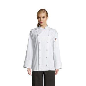 Executive Chef Coat, White or Black, XS to 3XL, 0425C 100% Cotton