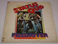 Status Quo Piledriver Autographed By John Coghlan 1st US Press + Insert 1972 Oop