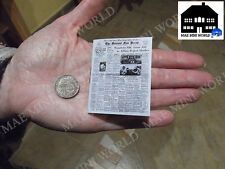 Miniature Replica.  Newspaper Detroit 1949. 1/6 Scale.