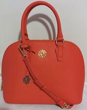 DKNY Bryant Park Saffiano Leather Round Satchel Women's Handbag w/ SS, Red, $350