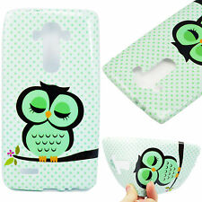 Cute Owl Gel TPU Rubber Silicone Soft Back Phone Skin Shell Cover Case For LG G4