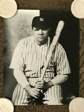Vintage BABE RUTH 16x20 rolled photograph New York Yankees - Mint condition