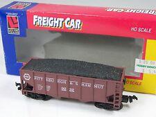 Life-Like HO Electric Train Brown Pittsburgh Freight Coal Car 9232 in Box 8569