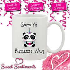 Personalised Pandicorn Panda / Unicorn Mug - Your Name Or Wording - Perfect Gift