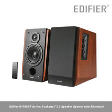 Edifier R1700BT Bookshelf Active 2.0 Speaker System Bluetooth 66w MDF bois érable