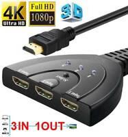 Full HD 1080P 4K 3In1 Out Verteiler HDMI Splitter 3 Port für 3D HDTV PC